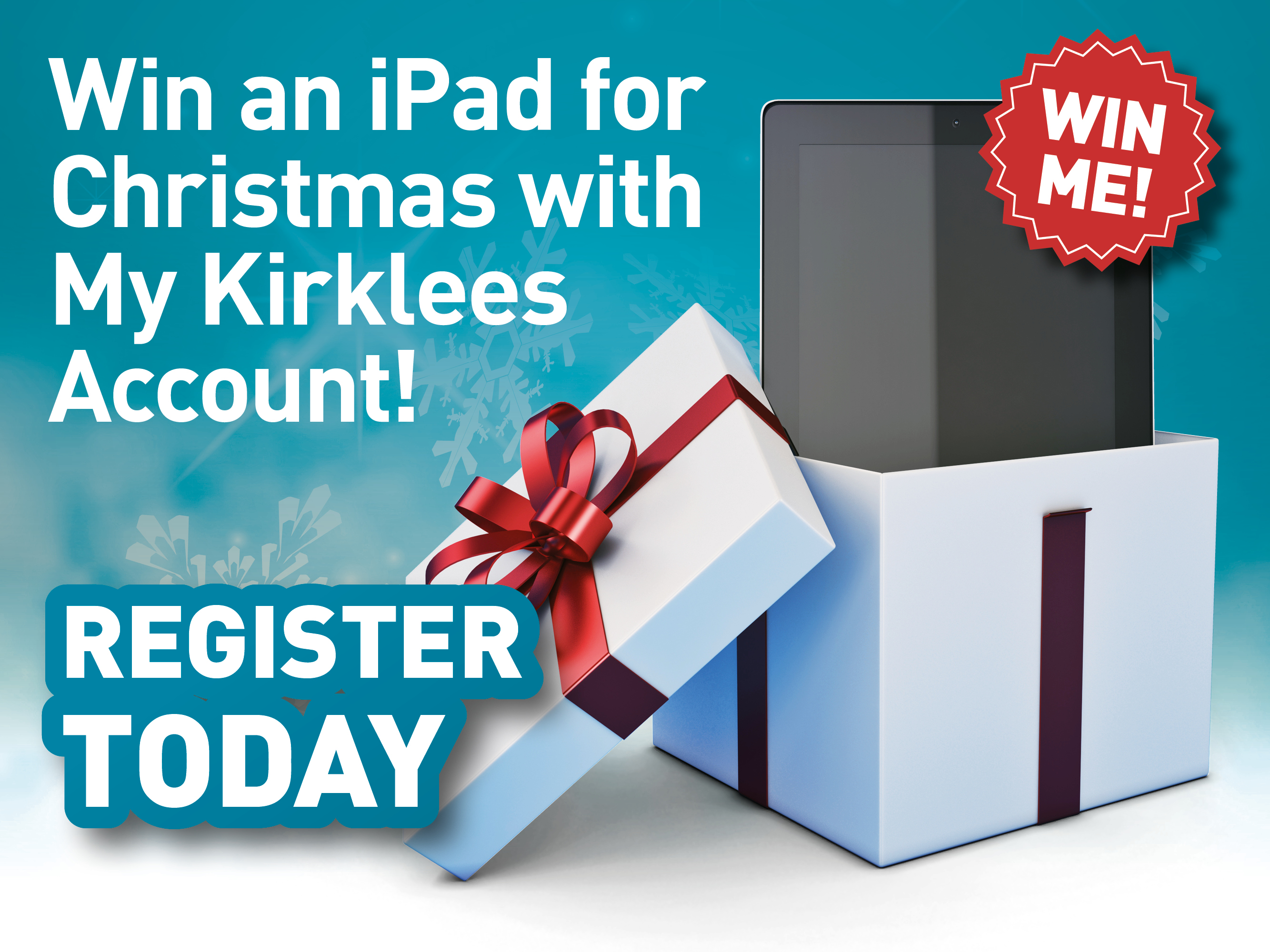 Register to win an ipad