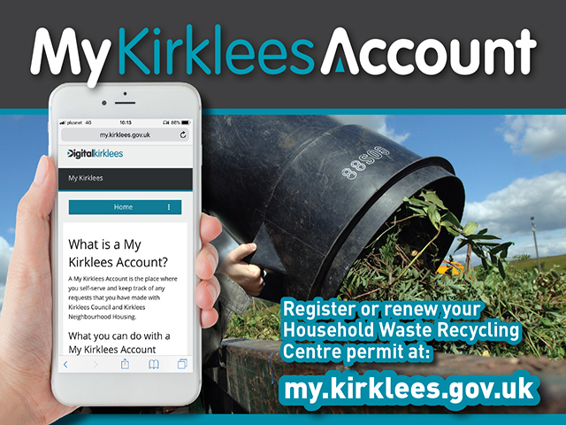 Household waste recycling permits inside My kirklees account