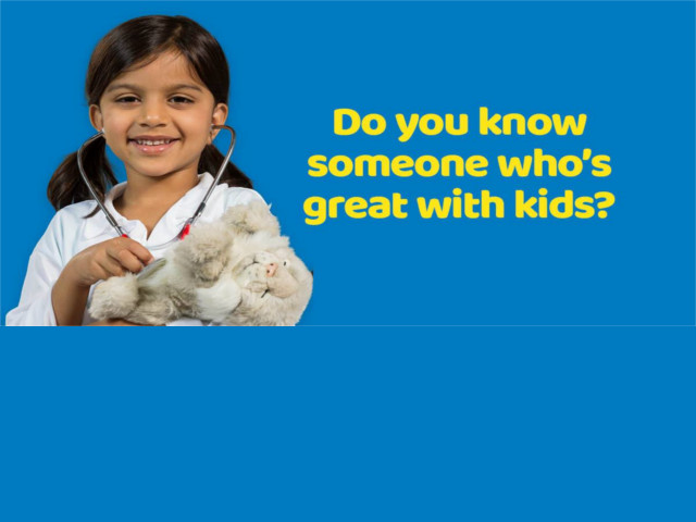 Do you know somebody who is great with kids
