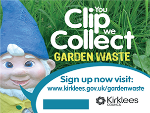 You clip, we collect. Sign up for garden waste collections.