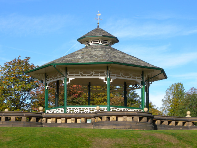 The bandstand in Greenhead Park