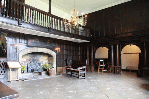 Fire place within oakwell hall