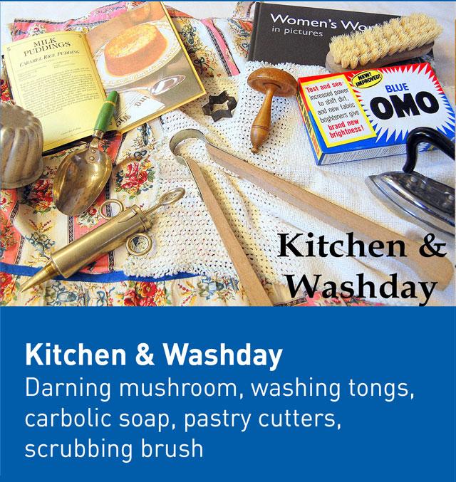 Kitchen and washday museum box