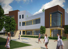 Artists impression of the Dewsbury Learning Quarter