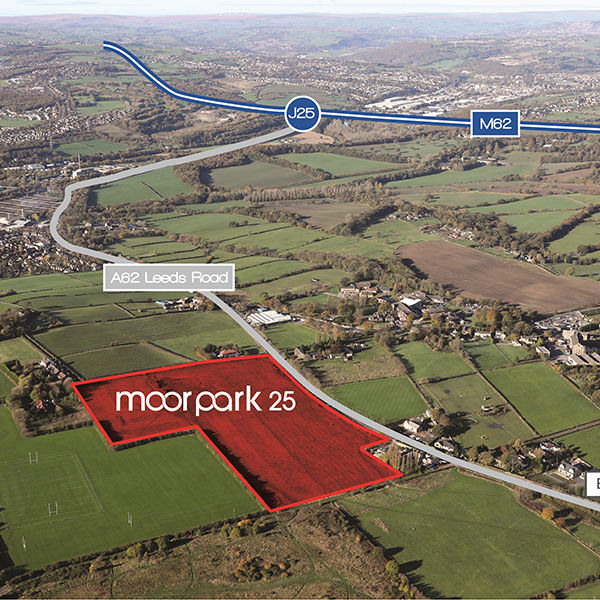 Aerial view of the Moor Park 25 site, Mirfield
