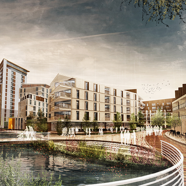 Artists impression of The Waterfront, Huddersfield