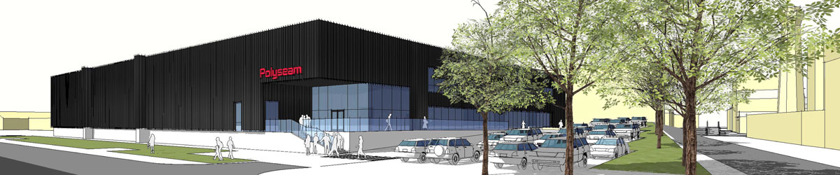 Artists impression of the Polyseam factory