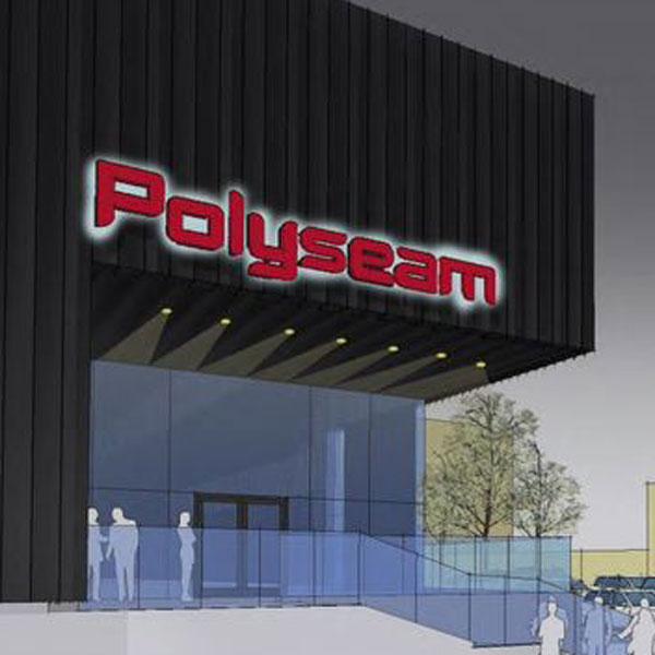 Artists impression of the Polyseam factory entrance