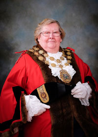 The Mayor of Kirklees Cllr Christine Iredale