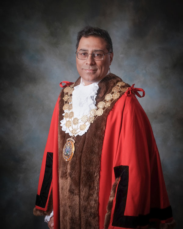 The Mayor of Kirklees Cllr Mumtaz Hussain