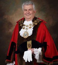 The Mayor of Kirklees Cllr Jim Dodds BEM