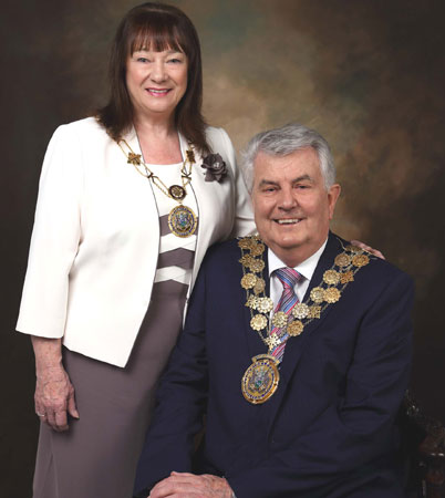 The Mayor of Kirklees Councillor Jim Dodds BEM and Carol Dodds