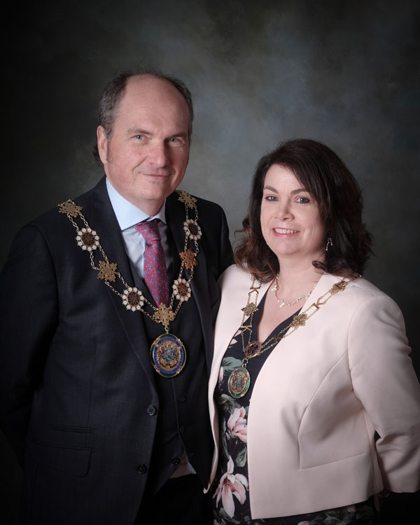 The Deputy Mayor and Deputy Mayoress of Kirklees, Councillor Nigel Patrick and Judith Patrick