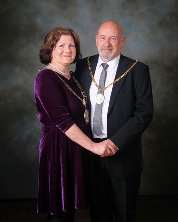 The Deputy Mayor, Councillor Gwen Lowe and Ken Lowe