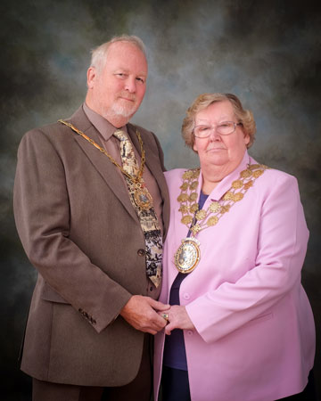 The Mayor of Kirklees Councillor Christine Iredale and Robert Iredale