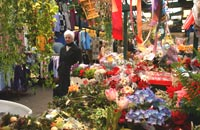 Flower stall at Dewsbury Market